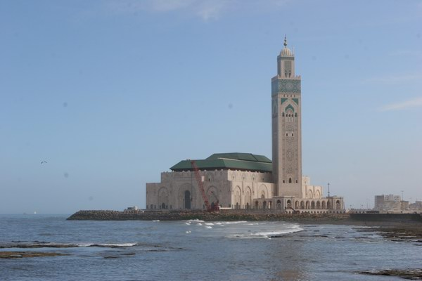 Casablanka - ogromny meczet Hassana II.
