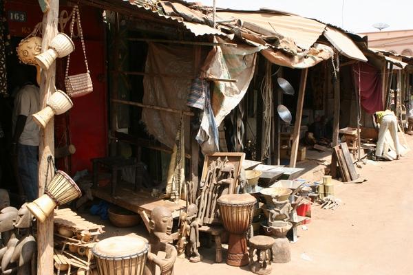 Bamako - bazar.