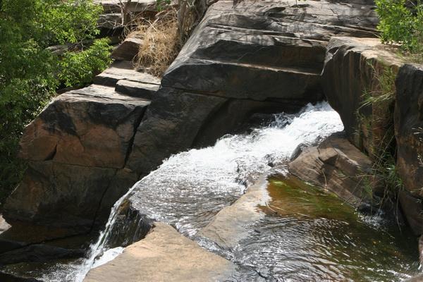 Malownicze afrykańskie wodospady.