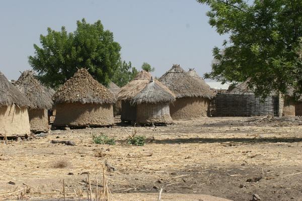 Jedna z mijanych wiosek.