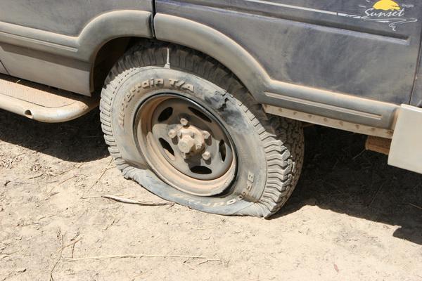 Uszkodzone koło.