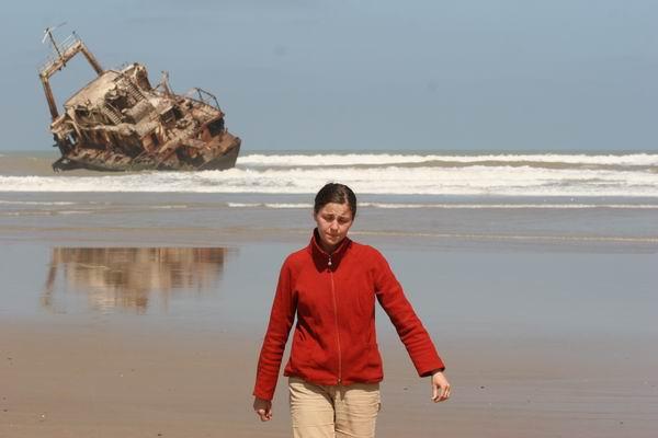 Tarfaya - wrak na plaży.