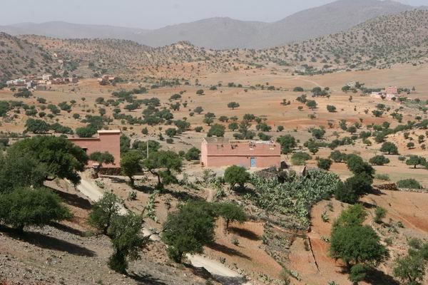 Marokańskie góry - w drodze do Tafraoute.