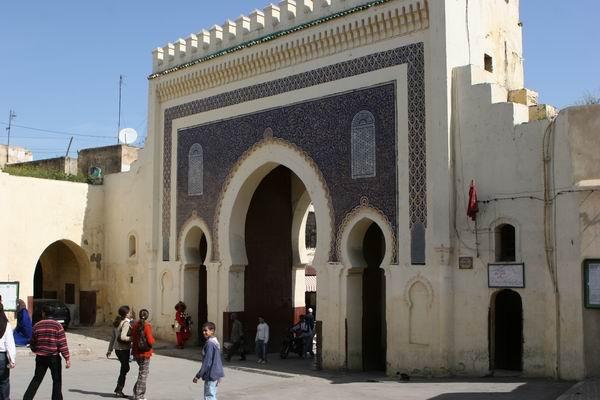 Fez - jedna z bram starego miasta - Bab Boujloud.