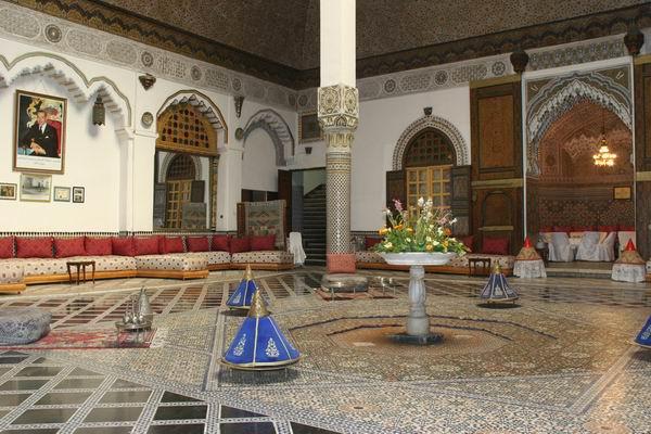 Fez - Palais Mnebhi - wnętrza.